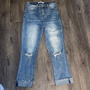 High waisted boyfriend fit jeans 24